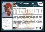 2001 Topps #668  Justin Thompson  Back Thumbnail
