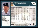 2001 Topps #12  Mike Stanton  Back Thumbnail
