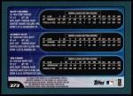 2001 Topps #373  Scott Seabol / Aubrey Huff / Joe Crede  Back Thumbnail
