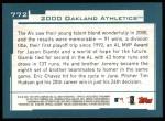 2001 Topps #772   Oakland Athletics Team Back Thumbnail