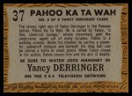 1958 Topps TV Westerns #37   Pahoo Ka Ta Wah  Back Thumbnail
