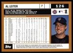 2002 Topps #126  Al Leiter  Back Thumbnail