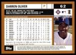 2002 Topps #62  Darren Oliver  Back Thumbnail