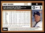 2002 Topps #6  Bret Boone  Back Thumbnail