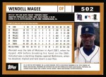 2002 Topps #502  Wendell Magee  Back Thumbnail