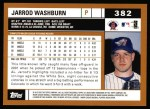 2002 Topps #382  Jarrod Washburn  Back Thumbnail