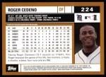2002 Topps #224  Roger Cedeno  Back Thumbnail