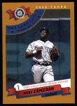 2002 Topps #702   -  Mike Cameron Golden Glove Front Thumbnail