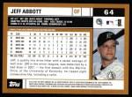 2002 Topps #64  Jeff Abbott  Back Thumbnail