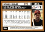 2002 Topps #251  Richard Hidalgo  Back Thumbnail