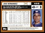 2002 Topps #466  Jose Hernandez  Back Thumbnail