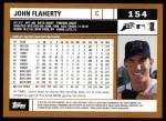 2002 Topps #154  John Flaherty  Back Thumbnail