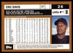 2002 Topps #26  Eric Davis  Back Thumbnail