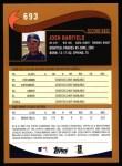 2002 Topps #693  Josh Barfield  Back Thumbnail