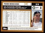 2002 Topps #39  Frank Menechino  Back Thumbnail