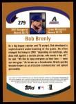 2002 Topps #279  Bob Brenly  Back Thumbnail