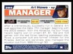 2004 Topps #285  Art Howe  Back Thumbnail