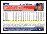 2004 Topps #90  Jose Vidro  Back Thumbnail