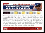 2004 Topps #358   -  Alex Rodriguez All-Star Back Thumbnail