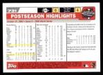 2004 Topps #731   -  Brad Penny World Series Back Thumbnail