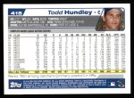 2004 Topps #415  Todd Hundley  Back Thumbnail