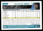 2004 Topps #400  Dontrelle Willis  Back Thumbnail