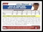 2004 Topps #698   -  John Olerud Golden Glove Back Thumbnail