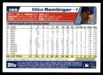 2004 Topps #169  Mike Remlinger  Back Thumbnail