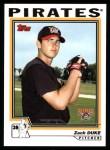 2004 Topps #325   -  Zach Duke First Year Front Thumbnail