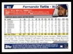2004 Topps #61  Fernando Tatis  Back Thumbnail