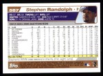 2004 Topps #587  Stephen Randolph  Back Thumbnail