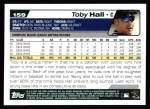 2004 Topps #159  Toby Hall  Back Thumbnail