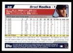 2004 Topps #32  Brad Radke  Back Thumbnail