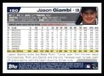 2004 Topps #150  Jason Giambi  Back Thumbnail