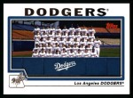 2004 Topps #652   Los Angeles Dodgers Team Front Thumbnail