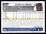 2004 Topps #463  Guillermo Mota  Back Thumbnail