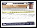 2004 Topps #687  Rickie Weeks  Back Thumbnail