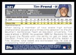 2004 Topps #321   -  Tim Frend First Year Back Thumbnail