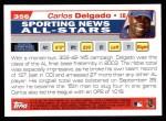 2004 Topps #356   -  Carlos Delgado All-Star Back Thumbnail