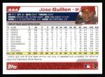 2004 Topps #444  Jose Guillen  Back Thumbnail