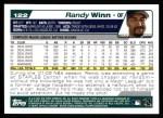 2004 Topps #122  Randy Winn  Back Thumbnail