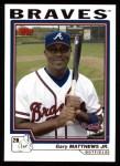 2004 Topps #632  Gary Matthews Jr.  Front Thumbnail