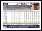 2004 Topps #512  Larry Walker  Back Thumbnail