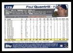 2004 Topps #175  Paul Quantrill  Back Thumbnail