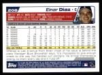 2004 Topps #208  Einar Diaz  Back Thumbnail