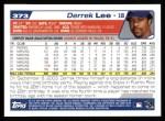 2004 Topps #373  Derrek Lee  Back Thumbnail