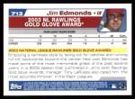 2004 Topps #713   -  Jim Edmonds Golden Glove Back Thumbnail