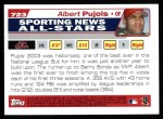 2004 Topps #723   -  Albert Pujols All-Star Back Thumbnail