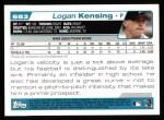 2004 Topps #683  Logan Kensing  Back Thumbnail