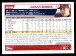 2004 Topps #568  Jason Davis  Back Thumbnail
